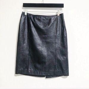 Lauren Ralph Lauren. Leather python embossed skirt